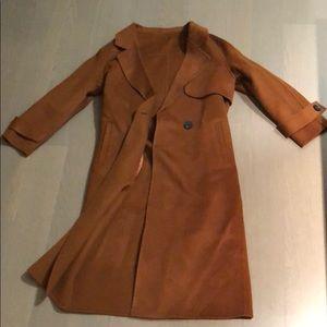 Camel cashmere blend coat
